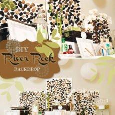 river rock backdrop