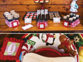 santa's kitchen dessert table