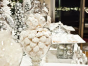 silver christmas dessert table