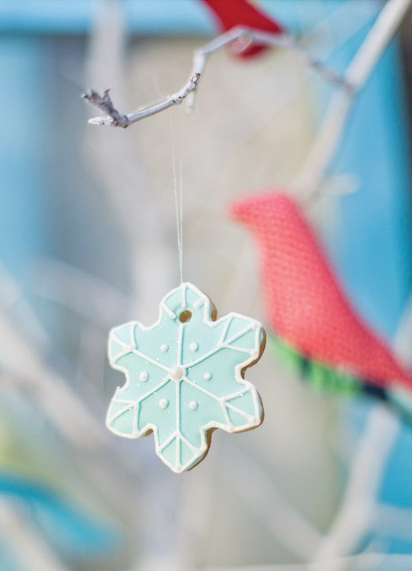 snowflake cookie ornament