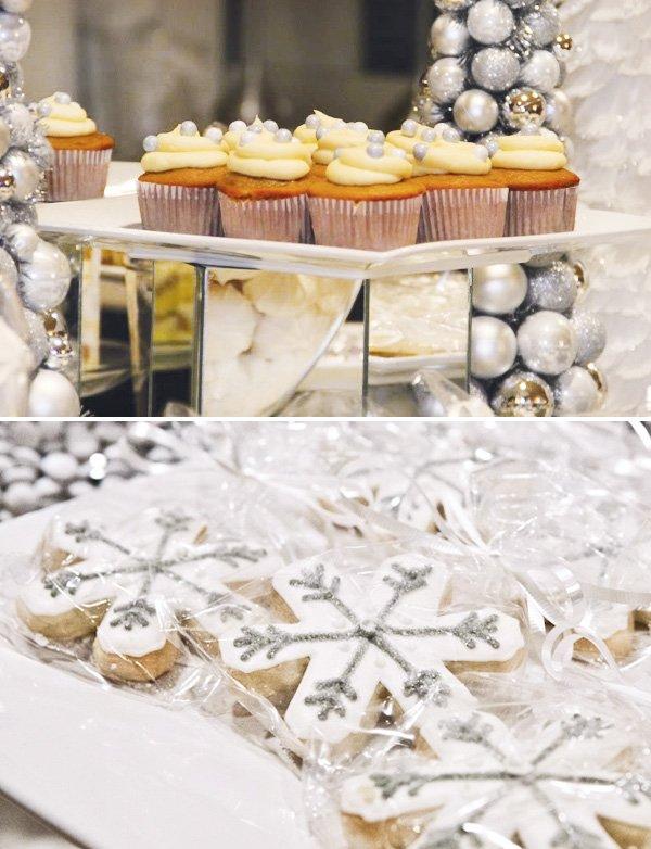 glitter snowflake sugar cookies