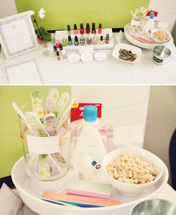 spa nail party