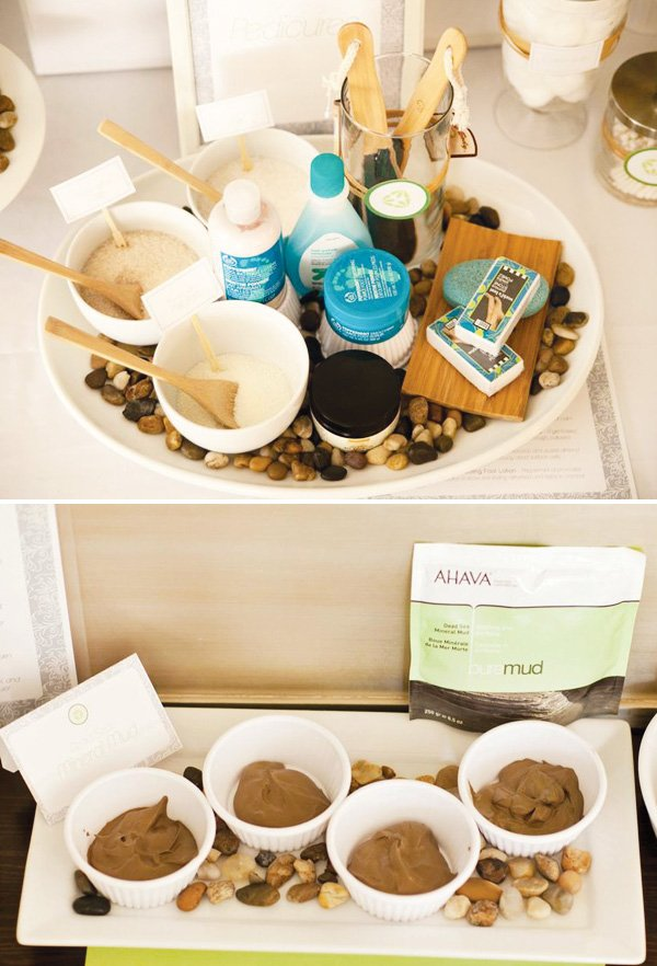 spa party mud masks