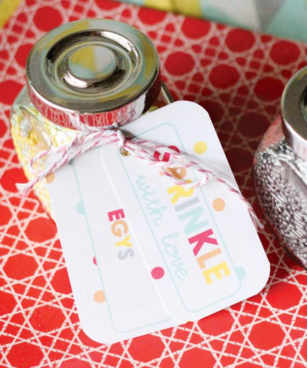 sprinkle birthday party favors