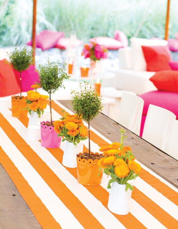 bright summer tablescape