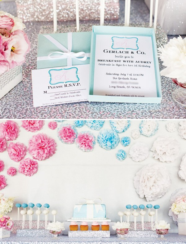 tiffanys dessert table