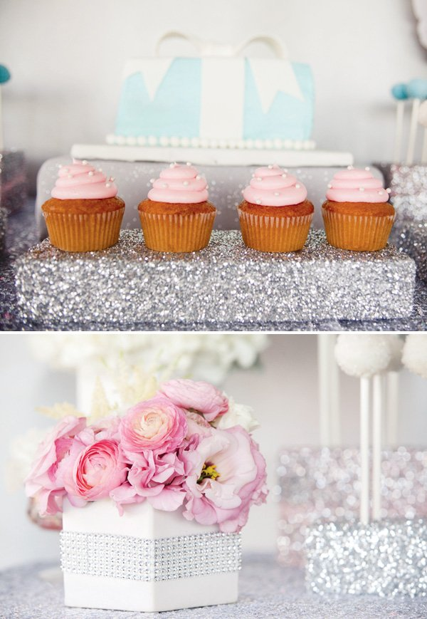 tiffanys inspired dessert table