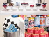 vintage car dessert table