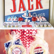 vote for the little man dessert table