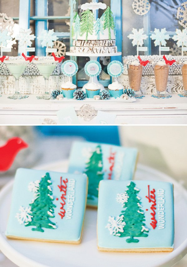 winter wonderland dessert table ideas
