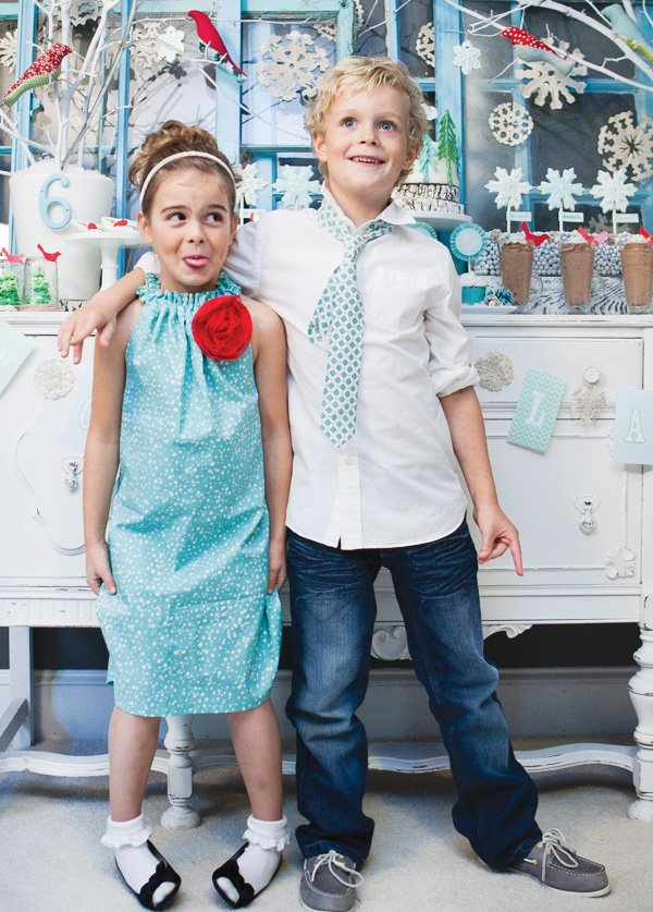 winter wonderland kids party outfits