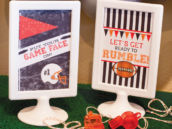 football party decoration ideas