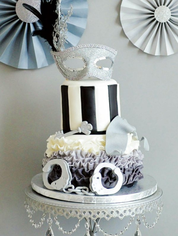 50 shades of grey cake