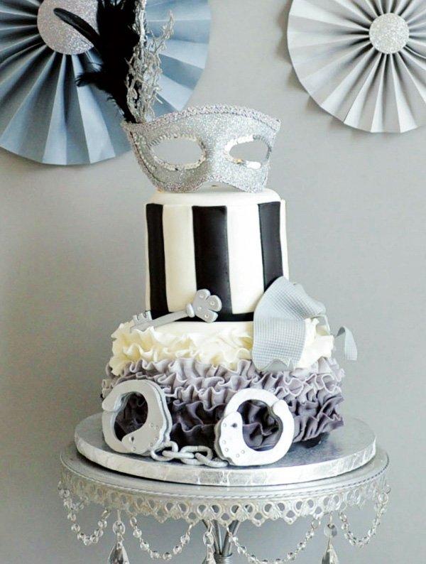 50 shades of grey cake