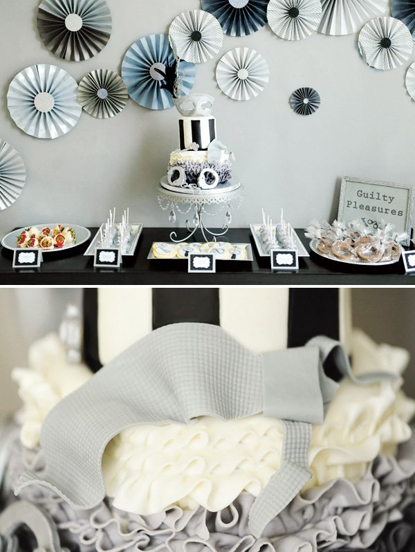 50 shades of grey dessert table