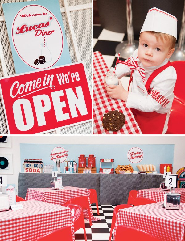 Awesome retro 50 39 s diner party 2nd birthday hostess for 50 s party decoration ideas