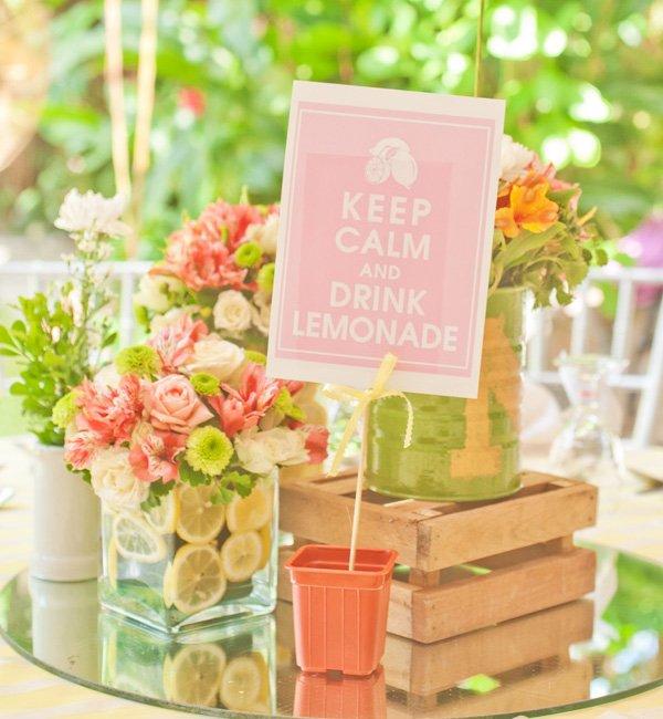 pink lemonade garden birthday