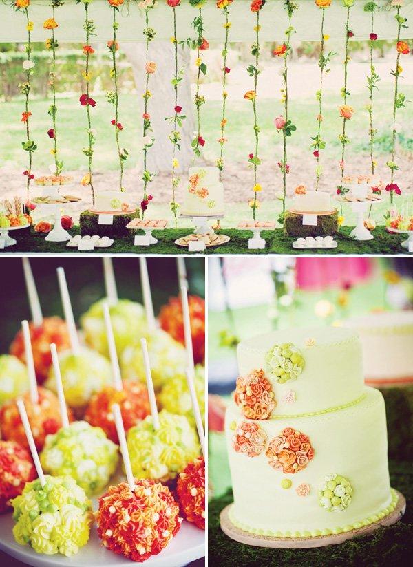 garden dessert table