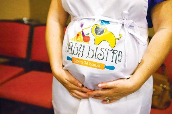 operation shower baby bistro apron