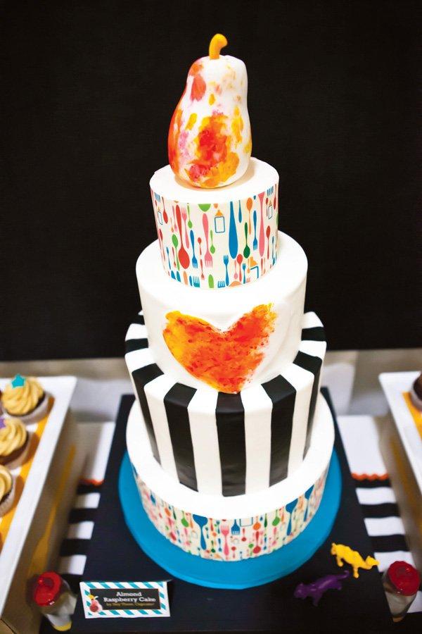 operation shower baby bistro tiered cake