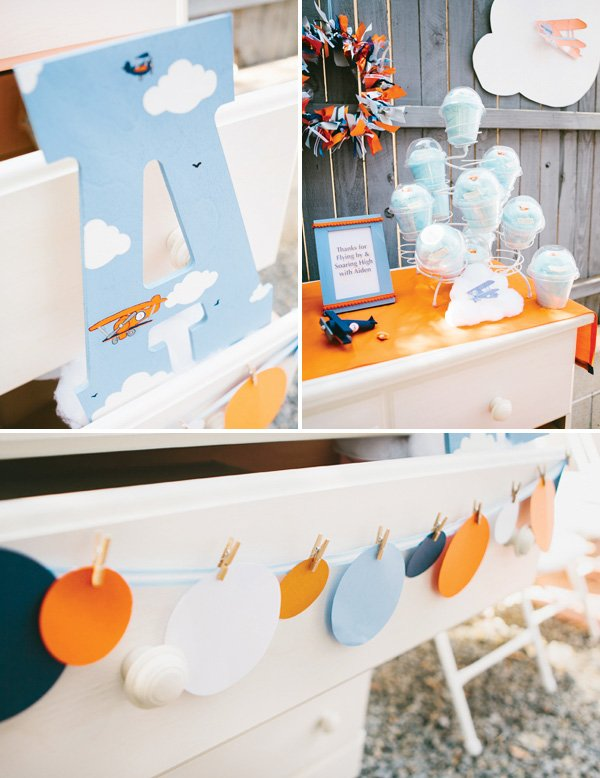 airplane party decor