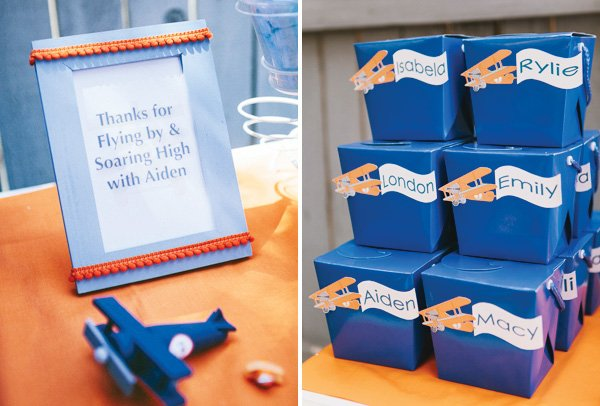 airplane party favor boxes