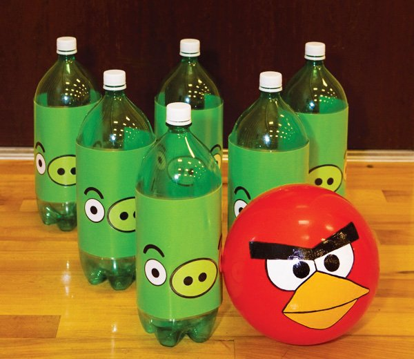 angry birds bowling game