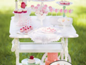 antique cart desserts