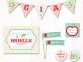 apple of my eye party printables from hostess with the mostess