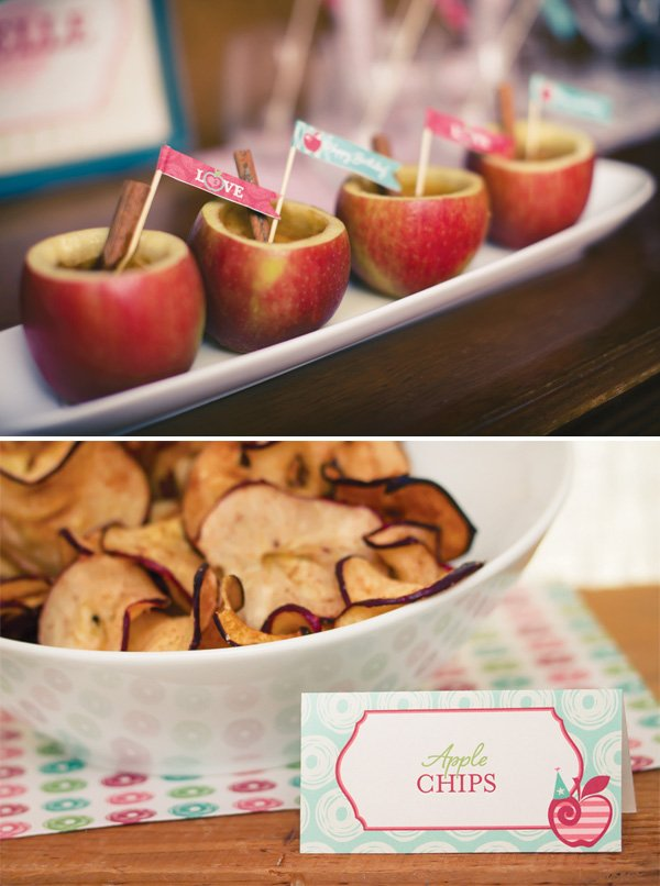apple of my eye party flags