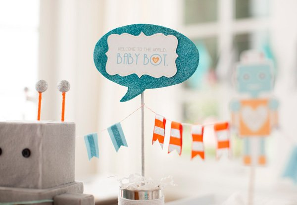 robot baby shower ideas