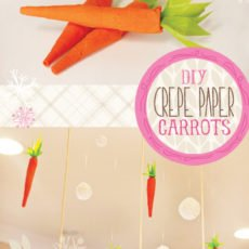 crepe paper and tissue paper carrot diy tutorial