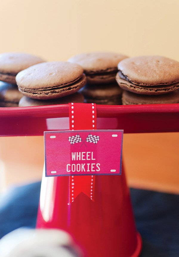 chocolate wheel cookies