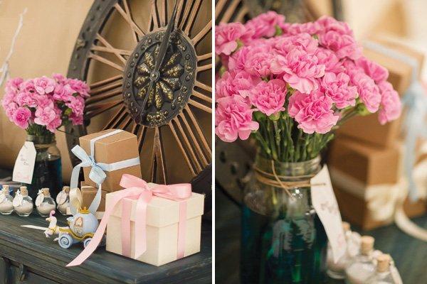 cinderella party flowers