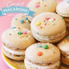 confetti macarons reciep