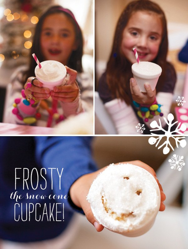 snow cone cupcakes - kids party idea