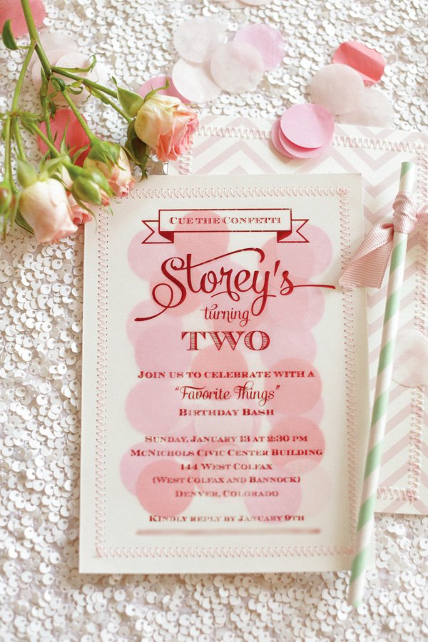 favorite things invitation