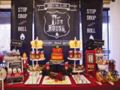 fire truck dessert table
