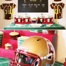 football dessert table