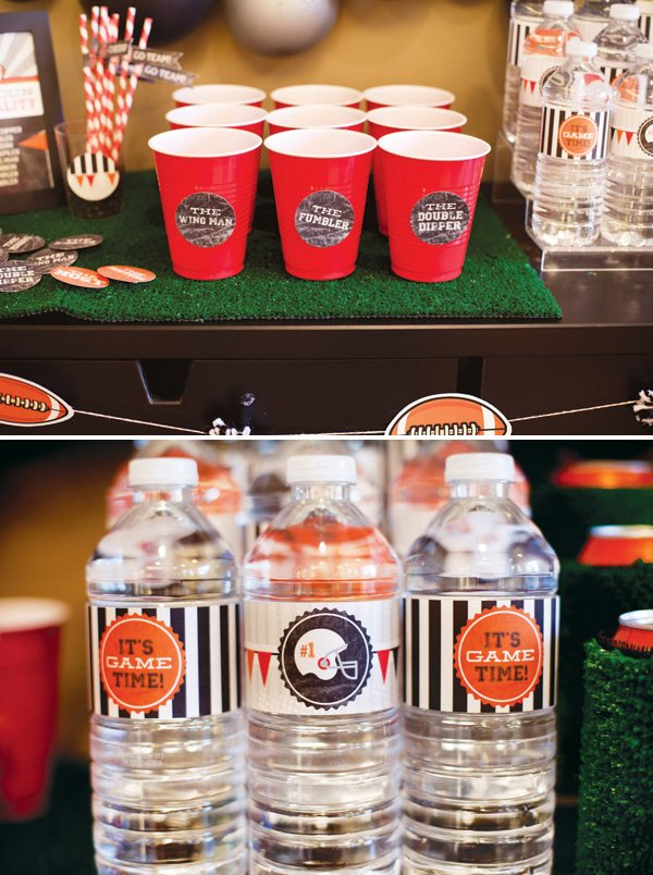 football party drinks and free printables