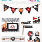 it's game time adult or boy birthday party prinatbles collection from hostess ink