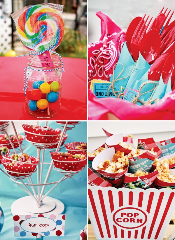 girly circus decorations