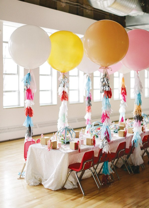 glam kids party table