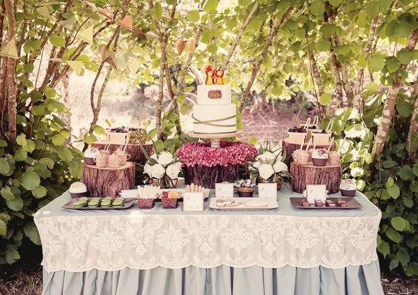 gumnut baby dessert table