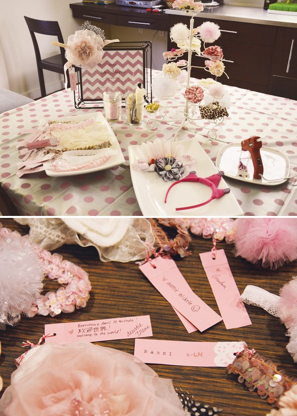 headband baby shower activity