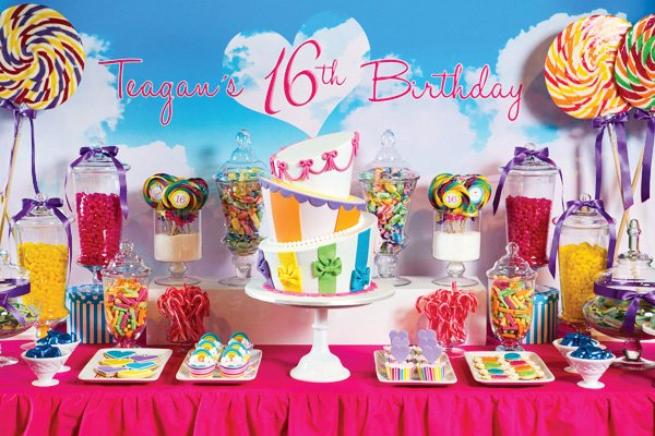katy perry teenage dream dessert table