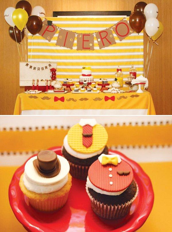 little man mustache dessert table