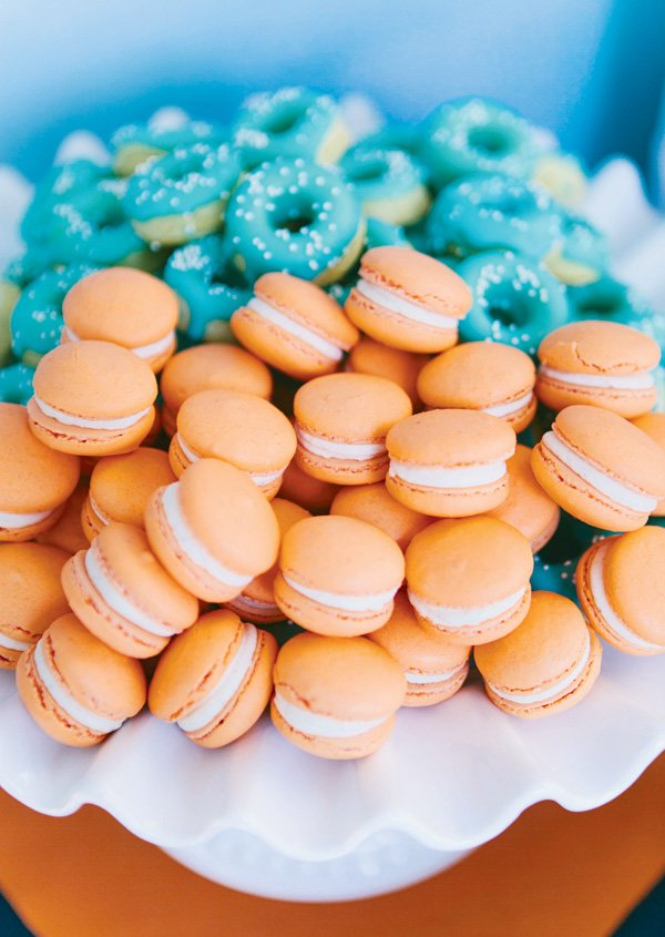 mini orange macarons
