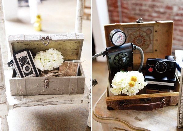 modern vintage party decor