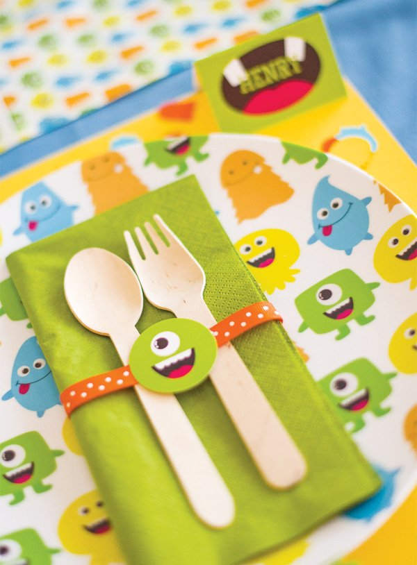 monster bash napkin rings